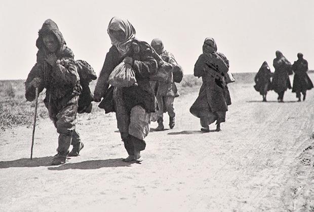 Беженцы голодомора, Казахстан, 1933 г.