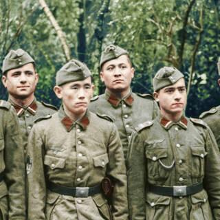 Бойцы Туркестанского легиона во Франции. Октябрь-ноябрь 1943 г.