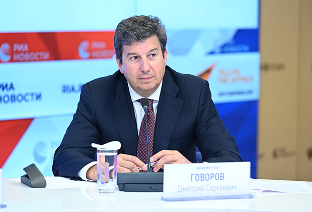 Вице-президент Русской медной компании Дмитрий Говоров на пресс-конференции, посвящённой предварительным итогам акции, май 2021 года.