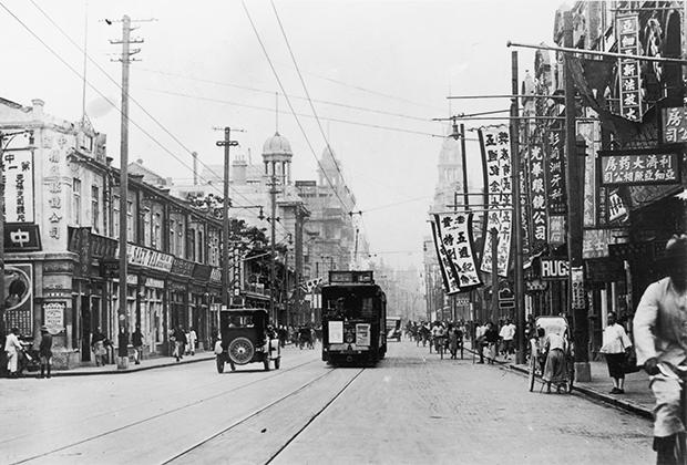 Нанкинская дорога в Шанхае. 16 августа 1937 года