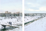 Еще один эффект, который создают композиции Гронского, — привнесение в пространство русского пейзажа такого агента перемен (или их отсутствия), как время. Нередко почти идентичные на первый взгляд фотографии на самом деле разделяет дистанция в несколько лет.