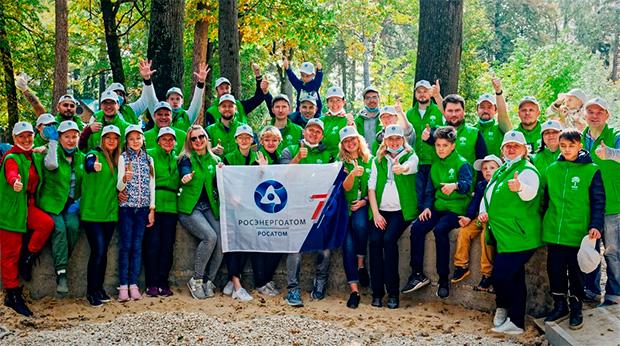 Корпоративные волонтеры «Росатома» Сады памяти создают уже второй год