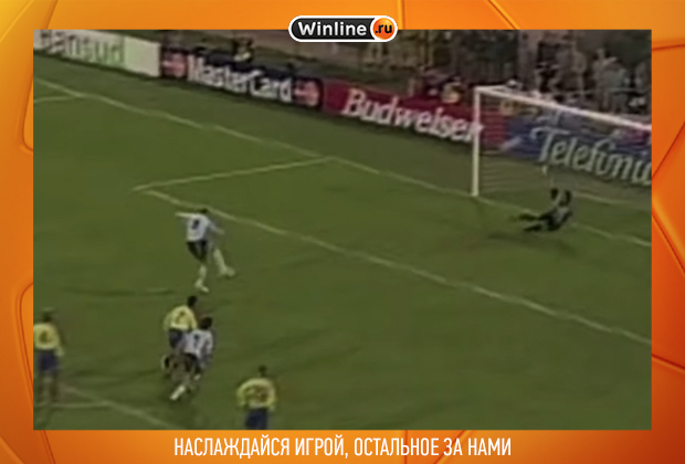 Матч Аргентина — Колумбия (Кубок Америки-1999), первый пенальти Мартина Палермо