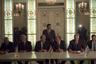 Президент РСФСР Б. Н. Ельцин (второй справа), Председатель Верховного Совета Республики Беларусь С. С. Шушкевич (третий слева) и Президент Украины Л. М. Кравчук (второй слева) подписывают Соглашение о создании Содружества Независимых Государств. Белорусская ССР. Беловежская Пуща, правительственная охотничья дача Вискули. 8 декабря 1991г.
