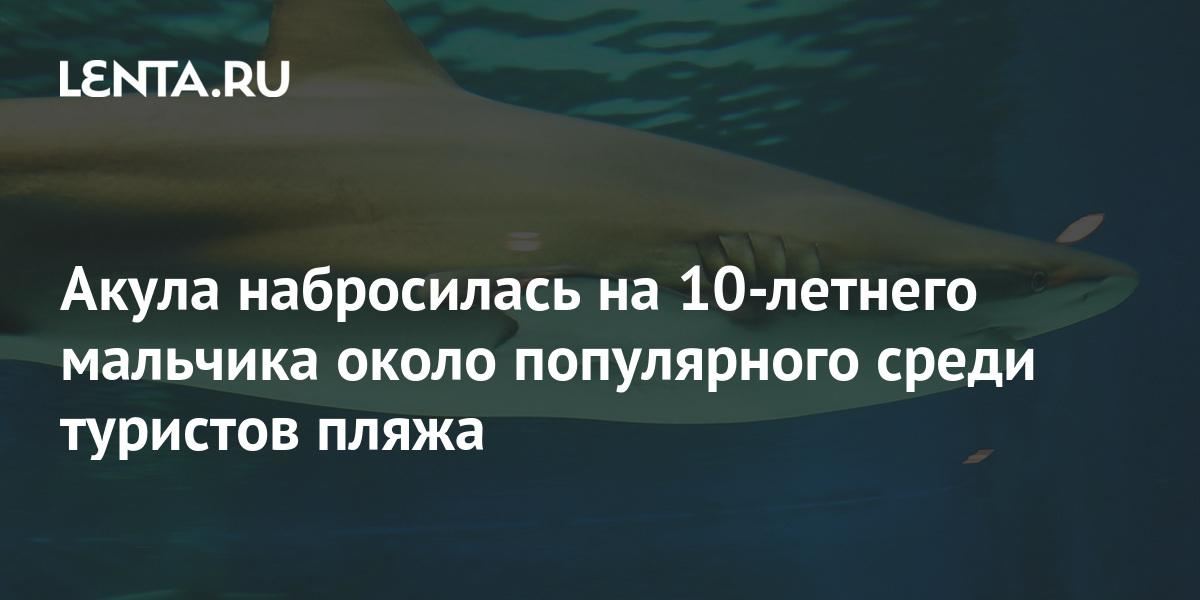 Акула набросилась на 10-летнего мальчика около популярного среди турис