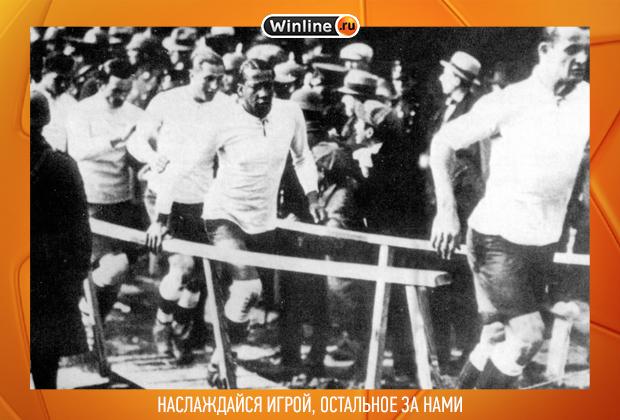 Хосе Андраде (в центре). Чемпионат мира-1930