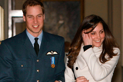 Принц Уильям и Кейт Миддлтон в 2008
