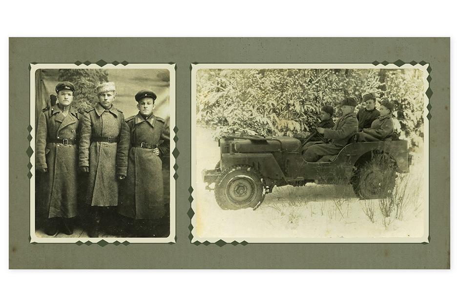 Батя мой справа стоит — Каменченко Виктор Петрович. И он же с боевыми товарищами на американском автомобиле