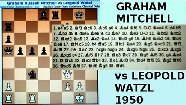 Воссозданная шахматная партия Грэма Митчелла с советским шахматистом