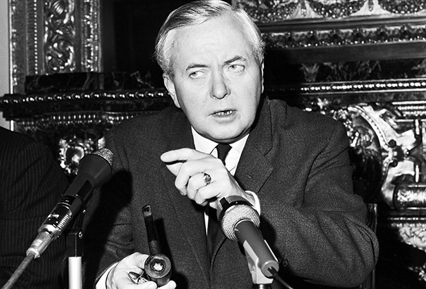 Гарольд Вильсон, британский премьер-министр