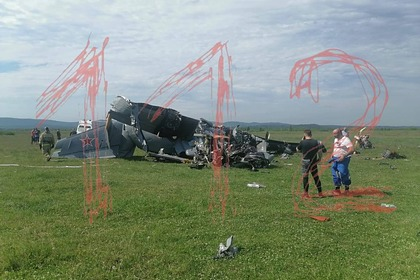 Опубликовано фото с места крушения самолета в Кемеровской области
