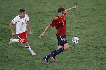 Сборная Испании сыграла вничью с Польшей в матче Евро