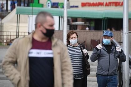 Люди в масках в подмосковном Щелково