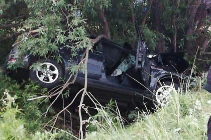 Машина с пятью подростками попала в ДТП на российской трассе
