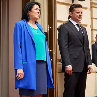 Саломе Зурабишвили и Владимир Зеленский