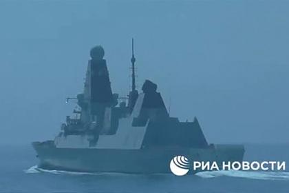 ФСБ опубликовала видео инцидента с британским эсминцем