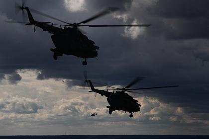 В Ленинградской области упал военный вертолет