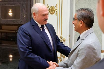 Александр Лукашенко и Мухаммед  аль-Аббар