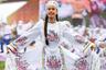 Современный татарский костюм сформировался к концу XIX века под влиянием культуры поволжских татар, а также традиций восточных народов, исповедовавших ислам.   Образ представителя этого народа обычно складывался из рубахи-платья и шаровар, а также кафтана со стоячим воротником— бешмета, чекменя иликазакина. Вкачестве верхней одежды также часто использовалсяхалат (слово происходит от арабского «хильгат», обозначающего рабочую одежду).   Женская рубаха отличалась от мужской только длиной — она доходила почти до щиколоток и украшалась жилеткой или фартуком. Неотъемлемой частью женской рубахи был нижний нагрудник — кукрекче. Он надевался под рубаху с глубоким вырезом, чтобы скрыть при ходьбе вырез на груди.  Домашним головным убором татар была тюбетейка — небольшая шапочка, которую надевали на макушку.Тюбетейку простегивали и между строчками узором закладывали скрученный конский волос или шнур. Шапочки с самым ярким орнаментом предназначались для молодежи, взрослые мужчины и старики носили более скромные однотонные тюбетейки. Часть национальной интеллигенции в начале XX века, следуя моде того времени, носилафески — красные шерстяные колпаки с золотой кисточкой.