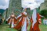 В каждой ингушской семье умели шить — этим занимались женщины. Мужская одежда была строгой и скромной, приспособленной к местным условиям. Основными элементами мужского костюма были рубаха, штаны, бешмет, черкеска, головной убор, обувь и оружие. Бешмет был повседневной одеждой, черкеску же надевали только в особых случаях: когда шли в гости, в мечеть или на сельские собрания. По обеим сторонам черкески нашивались газырницы (небольшие карманы для патронов).   Повседневной одеждой женщин были платья-рубахи и штаны. На праздники из шелка, бархата и парчи шили специальный костюм — чукхи. Его дополняли шапочками в форме усеченного конуса с золотым шитьем, а также специальными нагрудниками с застежками и поясом из бронзовых и серебряных пластин, украшенных гравировкой и полудрагоценными камнями. Головных уборов у женщин было много — платки, шали, а также особый колпак рогообразной формы — курхарс.   Обувь ингушек состояла из мягких сафьяновых сапожек и туфель-мюль с глухим носком. Их шили из сыромятной кожи и сафьяна — кожевенное ремесло было популярно у ингушей. Из кожи, помимо обуви, изготовляли кисеты, ремни, чехлы, седла и сбруи.