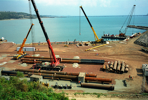 Строительство нефтепровода Баку — Тбилиси — Джейхан
