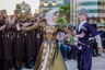 Чеченский национальной костюм появился в XIX веке. Верхней одеждой служила черкеска, а при плохой погоде надевали бурку. Обувь делали преимущественно из сыромятной кожи. Богатые люди предпочитали чувяки и ноговицы из черного сафьяна. Иногда к ним пришивалась подошва из буйволовой кожи.   Основным головным убором мужчине служила конусообразная папаха из овчины, а  состоятельный чеченец мог себе позволить папаху из шкуры бухарского барашка. Украшением мужского костюма служили белые или черные костяные газыри, пояс с серебряными бляхами и кинжал местного производства.  Женщины носили длинные рубахи красного или синего цвета и широкие шаровары, подвязанные у щиколотки. Поверх рубашки надевали длинное платье с широкими рукавами. Молодые девушки носили платья, собранные в талии, а у пожилых женщин наряды были широкие, пояса они не носили. Свадебное платье кроили из белого или цветного шелка по талии. Оно имело сплошной разрез спереди, на груди с обеих сторон пришивали для украшения круглые серебряные пуговицы. Голову чеченка покрывала шерстяным или шелковым платком, пожилые женщины носили под платком повязку, которая спускалась на спину в виде мешка, куда укладывались косы. Такой головной убор был также распространен в Дагестане.  В советское время чеченцы стали носить городскую одежду. У большинства мужчин сохранился лишь головной убор — папаха, с которой они редко расставались даже дома. Многие старики по сей день носят бешметы и черкески. Пожилые женщины по-прежнему ходят в широких платьях, шароварах, самодельных чувяках. Девушки предпочитают платья современных фасонов, но непременно с длинными рукавами и закрытым воротом.