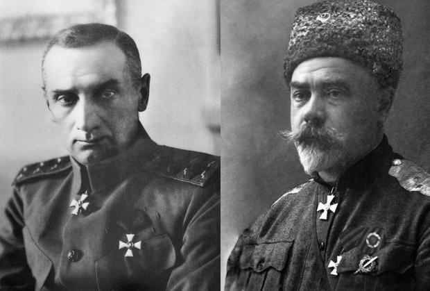 Александр Колчак и Антон Деникин