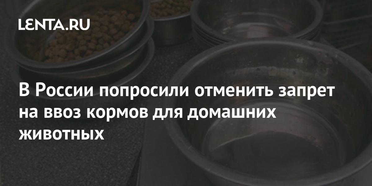В России попросили отменить запрет на ввоз кормов для домашних животных