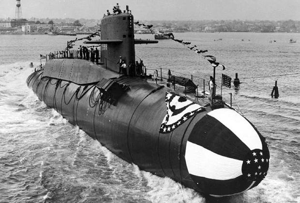 9 июня 1959 года. Спуск на воду американской подводной лодки «Джордж Вашингтон»