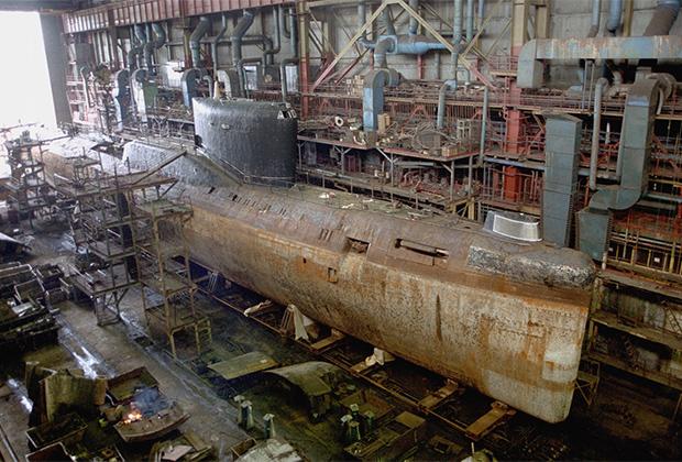 К-19 на утилизации. Судоремонтный завод «Нерпа», Снежногорск