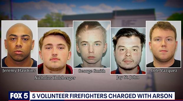 Пятеро пожарных из Аппер-Мальборо