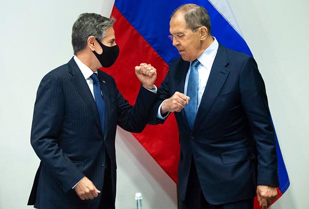 Госсекретарь США Энтони Блинкен и глава МИД России Сергей Лавров