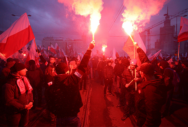 Митинг националистов в Варшаве
