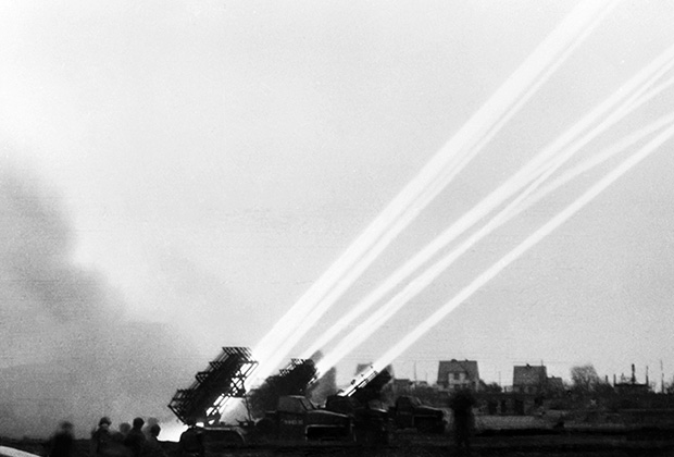 БМ-31-12 во время штурма Бреслау (ныне польский город Вроцлав)