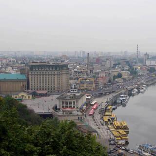 Вид на город Киев