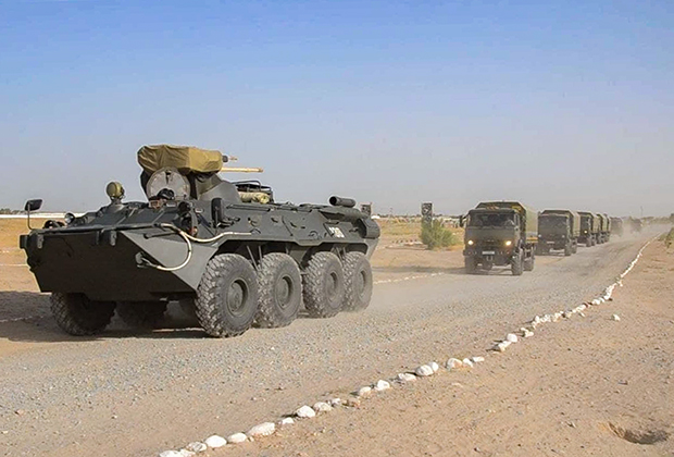 Учения узбекских войск на границе с Афганистаном
