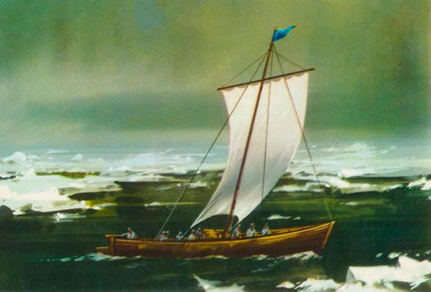 Дежнев в Чукотском море