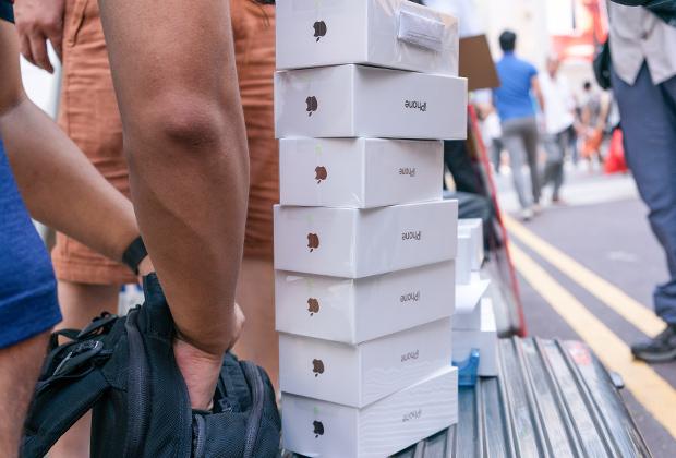 Коробки с iPhone