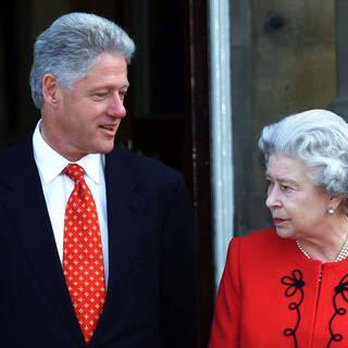 Билл Клинтон и Елизавета II