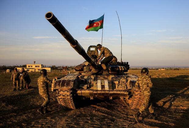 Азербайджанские военные в Карабахе