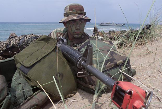 Американский военный на учениях НАТО