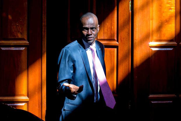 Президент Гаити Жовенель Моиз у своей резиденции в пригороде Порт-о-Пренса