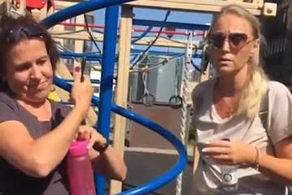 Россиянка выгнала с детской площадки детей с инвалидностью и попала на видео