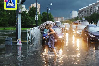 Семь регионов России предупредили о ливнях и подтоплениях