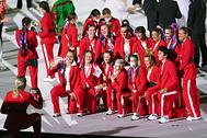 Сборная ОКР на церемонии открытия Олимпийских игр