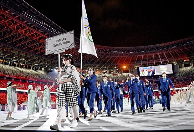 Сборная беженцев на церемонии открытия Олимпиады