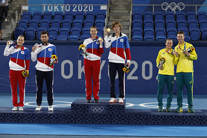 Сборная России опустилась на одну позицию в медальном зачете Олимпиады в Токио