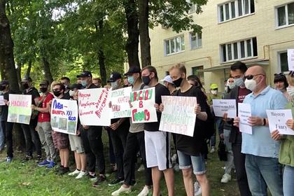 В Минске началась акция протеста из-за смерти нелегального мигранта