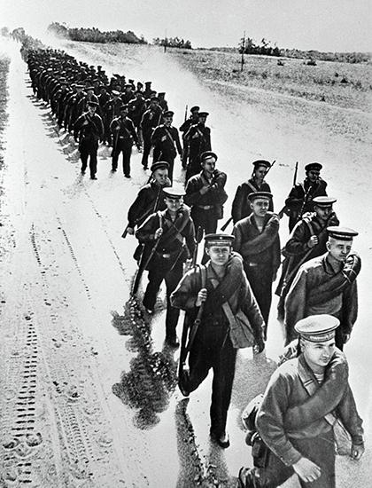 Морская пехота идет защищать Одессу