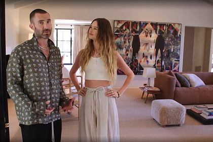 Адам Левин и Бехати Принслу в своем новом жилище
